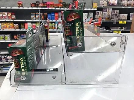 Cooler Top Energy Drink Tiered Display 1
