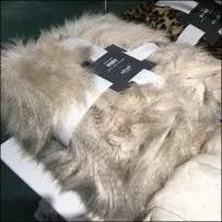 Martha Stewart Faux Lynx Banded Throws