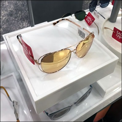 Sunglass Hut Tray Outfitted Sunglass Sales