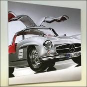 Mercedes Benz 1955 Silver Gullwing Poster