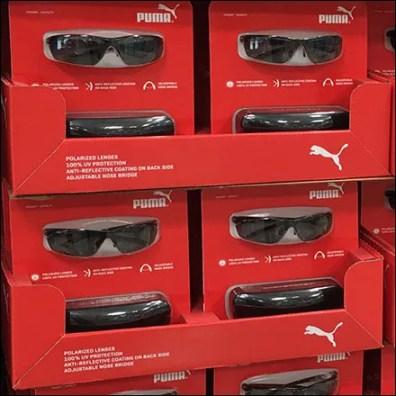 Puma Polarized Sunglasses Pallet Display Featue