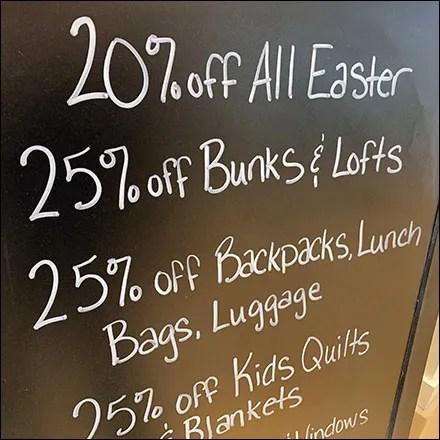 Gap Kids Easter Chalkboard Easel Discounts