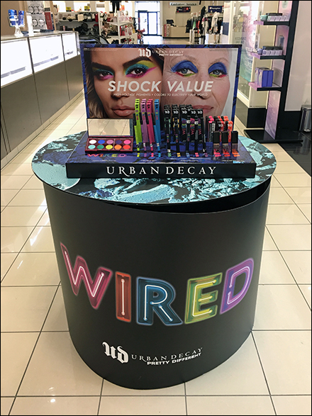 Sephora Wired Shock-Value Island Display