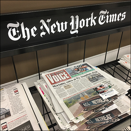 Market-32 New-York-Times Newsstand Cart