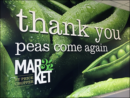 Market-32 Peas-Come-Again Thank-You-Sign