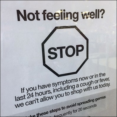 Not-Feeling-Well CoronaVirus Retail Advisory