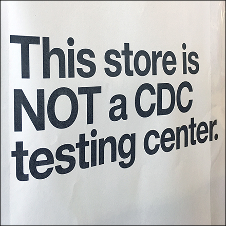 Store Not CoronaVirus Test Center