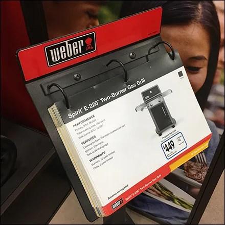 Weber Freestanding 3-Ring Catalog Display
