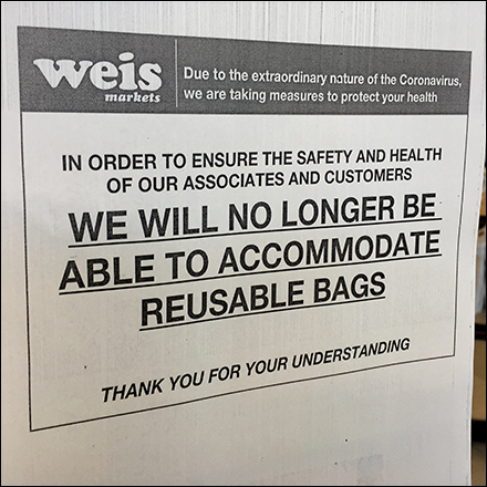 CoronaVirus Reusable Shopping-Bag Ban
