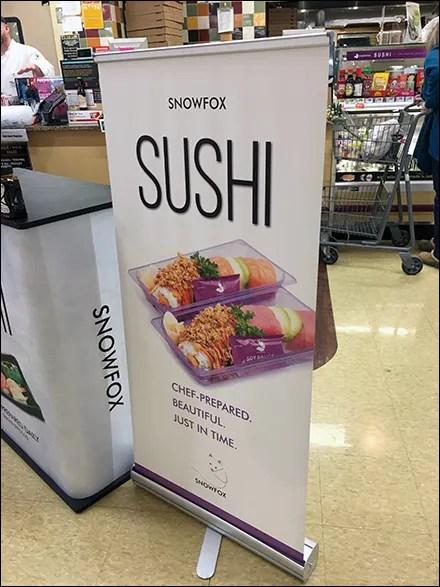 Snowfox Sushi Portable Banner