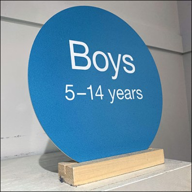 Children's-Apparel-Size Circle Sign Base
