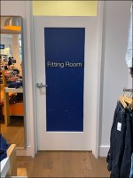 Gap Kids Fitting Room Clearly Signed