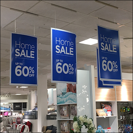 Suspended Home Sale Ceiling Signs
