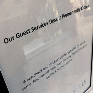 Mall Guest Services Closed At Short Hills
