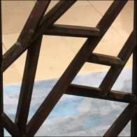 Prairie-School Screen with Art-Deco Edge