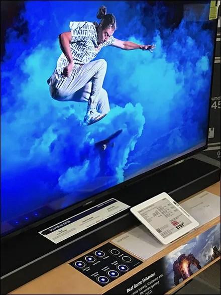 Samsung Gaming Television Demo Console