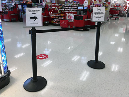 Target CoronaVirus Self-Checkout Wait-Here Instructions Main0