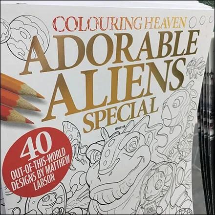 Adorable Aliens Coloring Book Special
