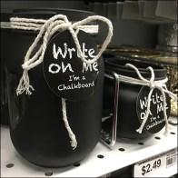 Hand-lettered Chalkboard Jar Self-Promotion