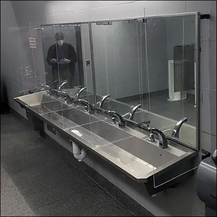 CoronaVirus Restroom Sneeze Guard Barrier