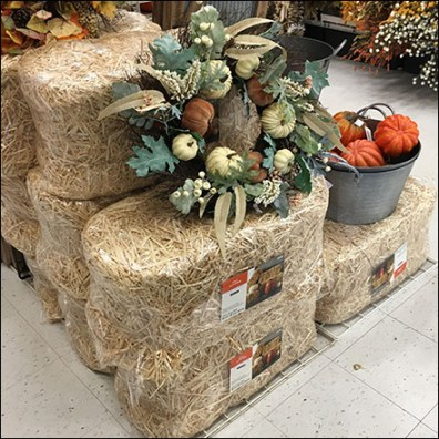 Straw Bale Visual Merchandising Props
