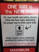 CoronoVirus One-Way Traffic Entry Sign