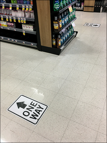 CoronoVirus One-Way Traffic Floor Graphic