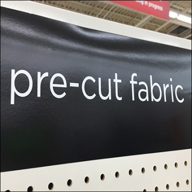 Pre-Cut-Fabric Cascade Display Rack