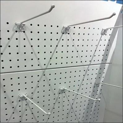 Perforated-Metal Pegboard Display Backboard