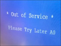 Out-of-Service Scanner Message