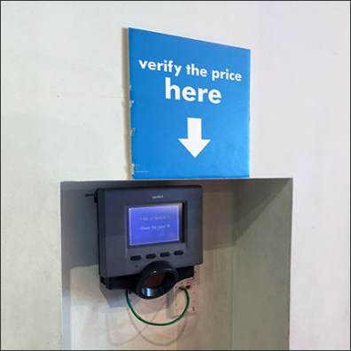Verify-The-Price Scanner Recess