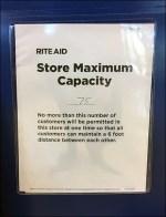 CoronaVirus Store Capacity Limit Notice