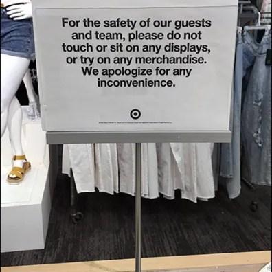 CoronaVirus Don't-Sit-On-Displays Warning