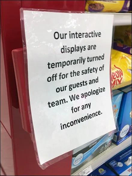 CoronaVirus Interactive Displays Shutdown