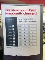 CoronoVirus Temporary Store-Hours Change Sign