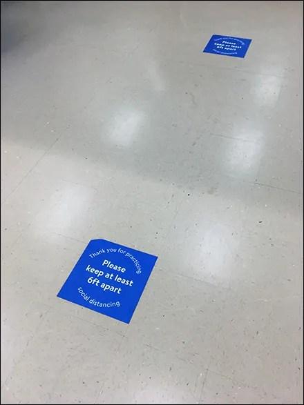 CoronaVirus Social Distancing Service-Counter Floor Graphic