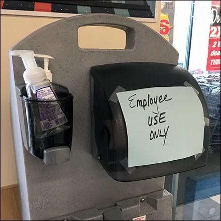 CoronaVirus Employees-Only Sanitation Station