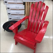 Barn-Red Rustic Adirondack Chair Merchandising