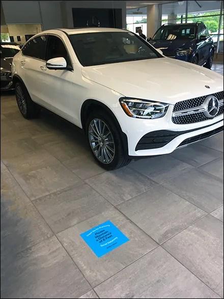 Mercedes-Benz CoronaVirus Showroom Distancing