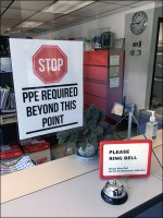 CoronaVirus PPE Required Office Sign