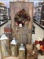 Fall Corrugated Door Wreath Displayer