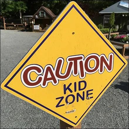 Garden Caution Kid Zone Warning