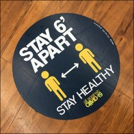 CoronaVirus Stay-Apart Stay-Healthy Floor Graphic
