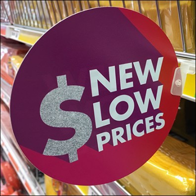 New-Low-Prices Shelf-Edge Flag