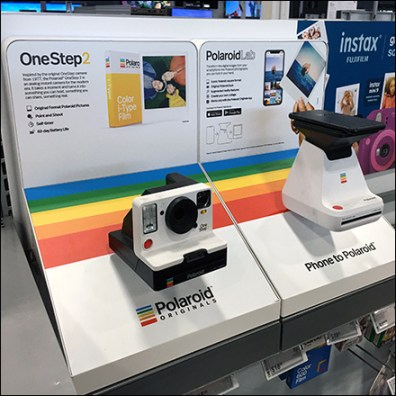 Traditional-vs-Trendy Polaroid Merchandising