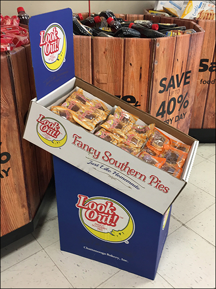 Fancy Southern Pies Corrugated Display