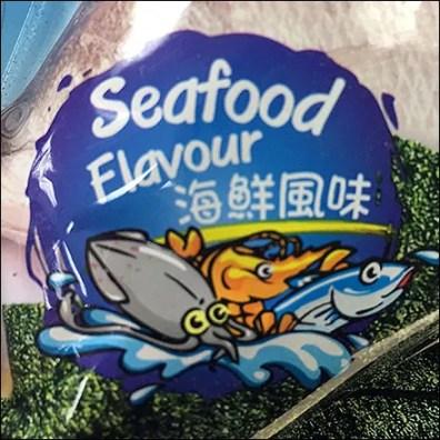 Seafood-Flavor Tempura Seaweed Strip Merchandiser