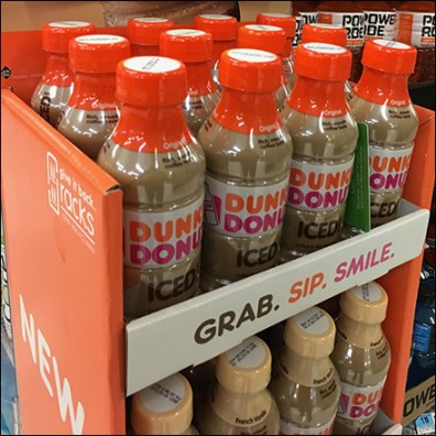 Grab-And-Go Dunkin Iced Coffee Display