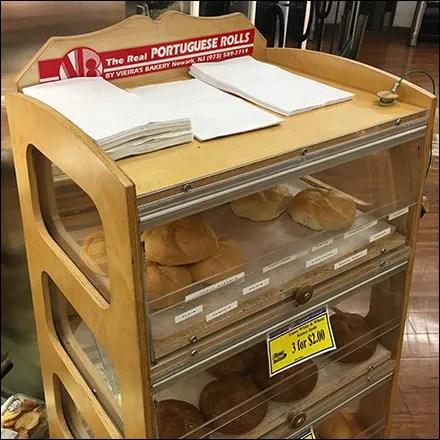 Portuguese-Roll Wood Bakery Rack