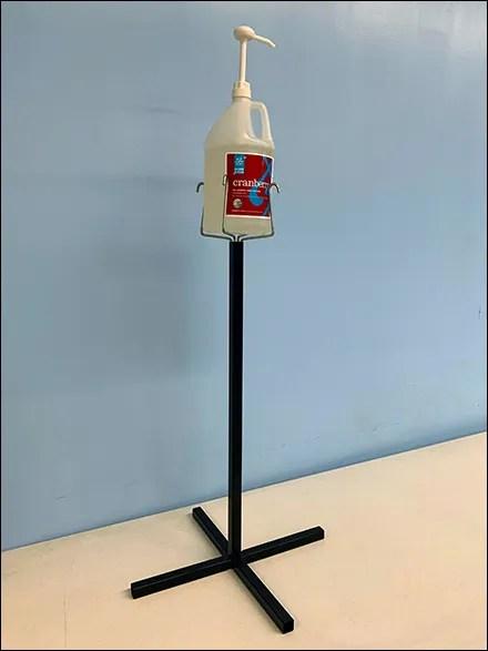 CoronaVirus Dual-Use Gallon Sanitizer Stand